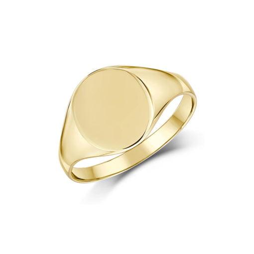 Anel Redondo Forrado Ouro 18k