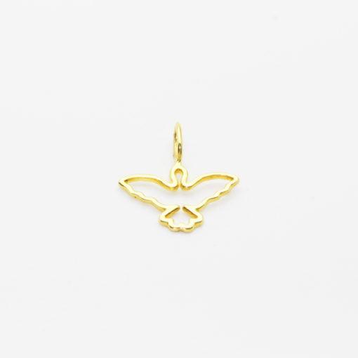 Pingente Ouro 18k Símbolo da Paz Vazado