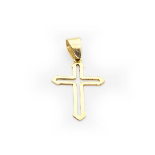 Pingente Ouro 18k Cruz Vazada