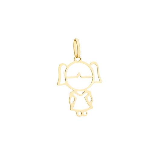 Pingente Ouro 18k Personalizado Menina (2cm)