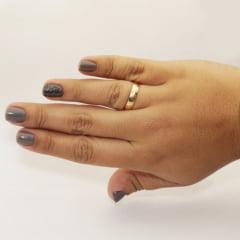 Par de Alianças em Ouro 18k 3 gramas 4mm de largura – Fio Reto Trabalhada