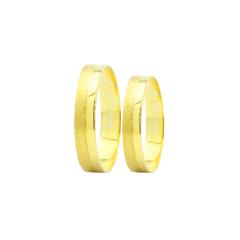 Par de Alianças em Ouro 18k 3 gramas 4mm de largura – Slim Trabalhada