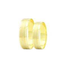 Par de Alianças em Ouro 18k 4 gramas 5mm de largura – Slim Trabalhada