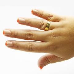 Par de Alianças em Ouro 18k 5 gramas 6mm de largura – Slim Lisa