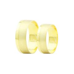 Par de Alianças em Ouro 18k 7 gramas 7mm de largura – Slim Trabalhada